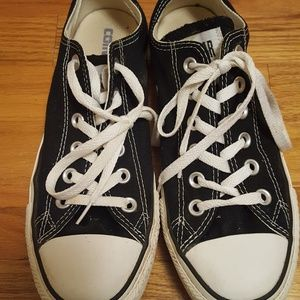 Converse All Star Black Low Top Shoes Men 6 Women8